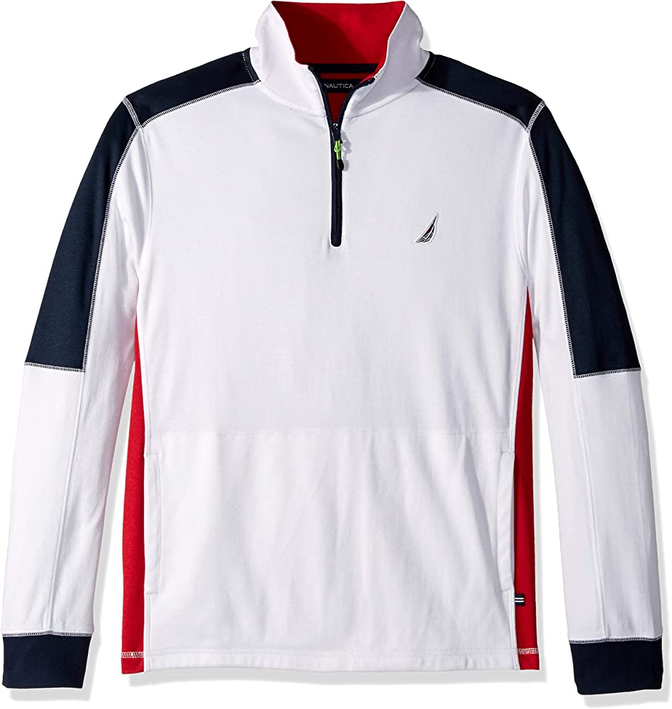 Nautica Hombre K83513 Manga Larga Camisa Polo - Blanco - Large ...
