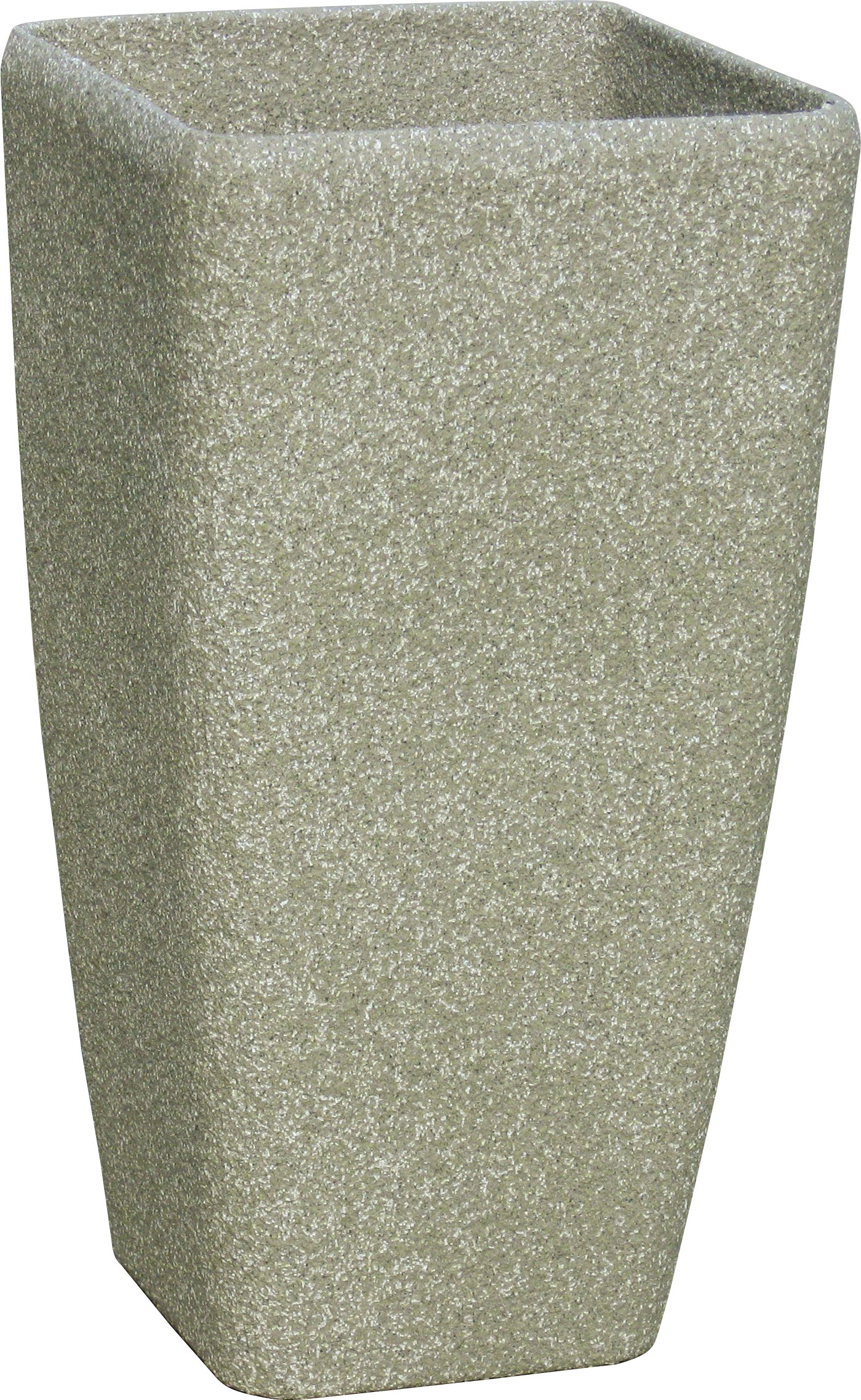 Stone Light ST Series 16 in. (dia) x 30 in. (height). Cast Stone Square Planter, Limestone