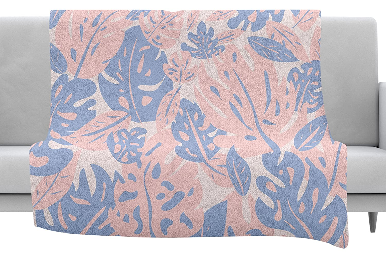 Kess InHouse Will Wild Rose Quartz /& Serenity Jungle Pink Floral Throw 60 x 40 Fleece Blankets
