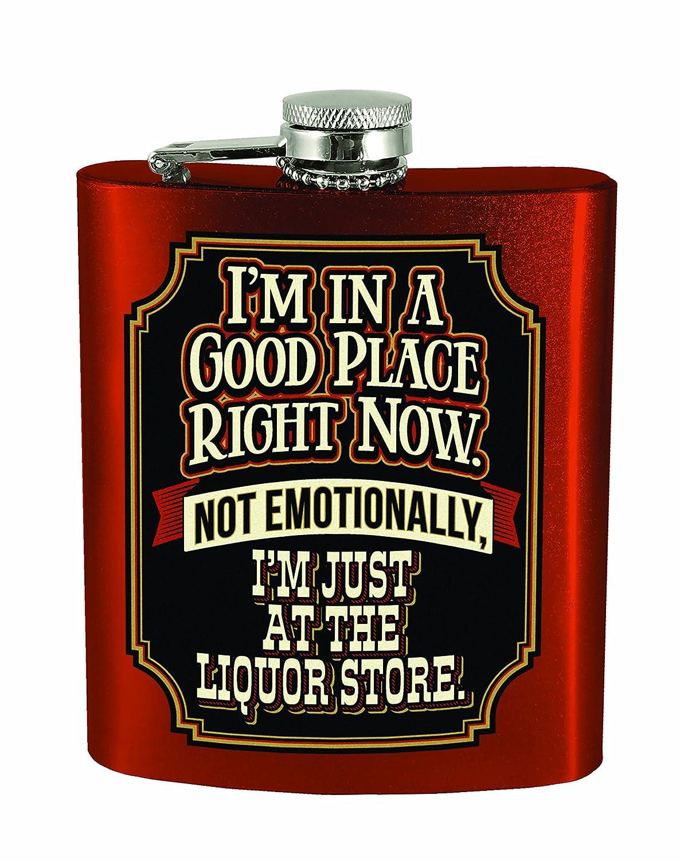 Spoontiques Liquor Store フラスコ レッド   B01MTVKCHN