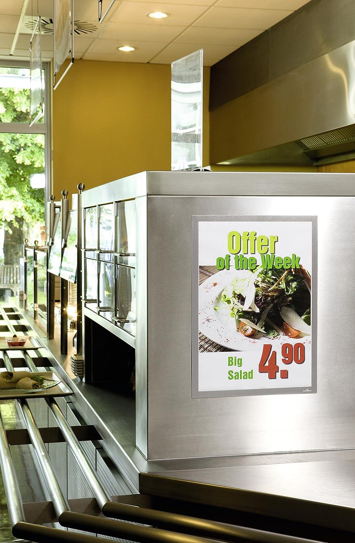 DURABLE 487205 per superfici lisce e solide f.to A4 cornice espositiva adesiva confezione da 2 pezzi verde Duraframe