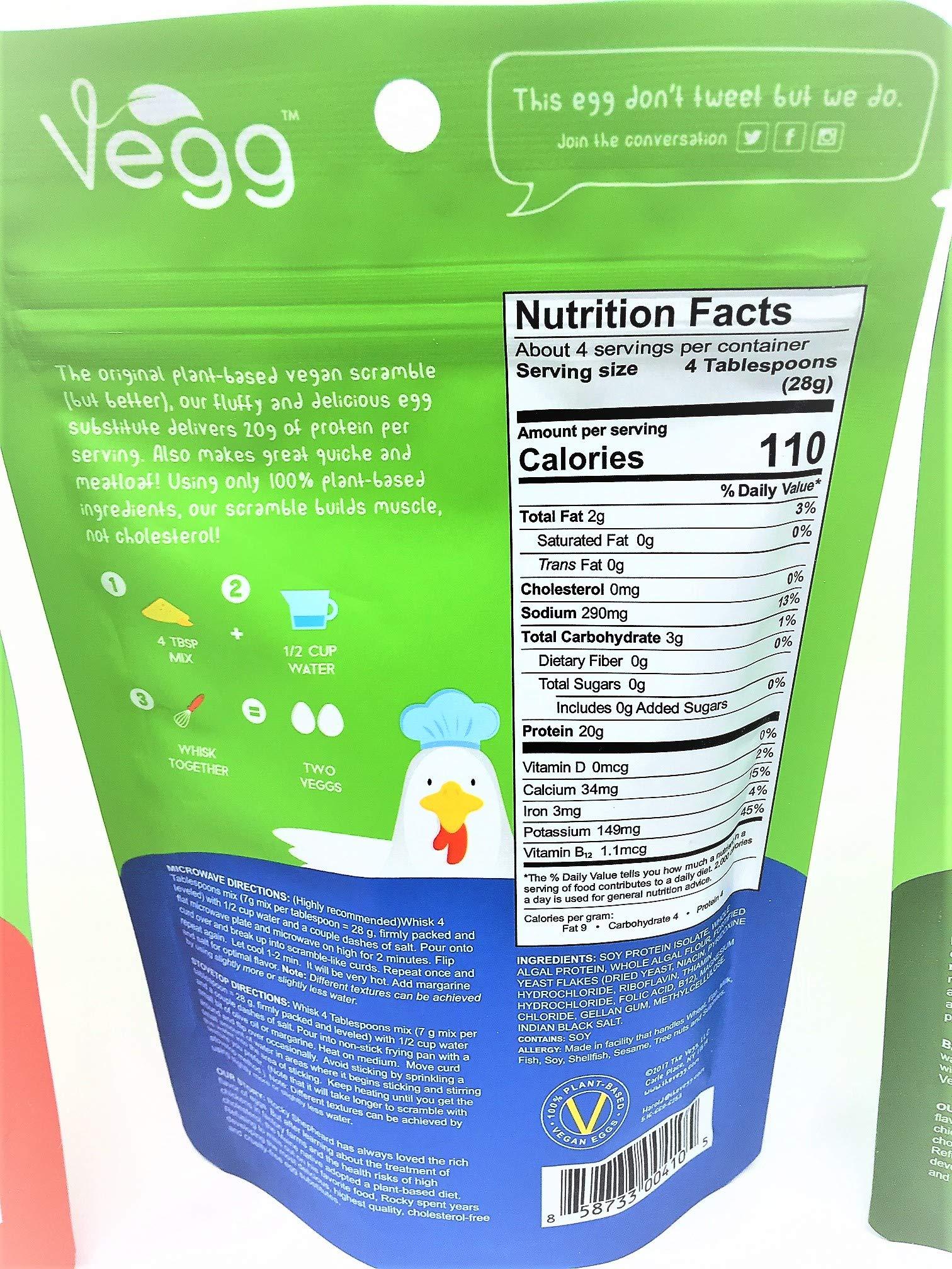 The Vegg Vegan Mega Pack Vegan Egg Yolk + Power Scramble + French Toast Mix + Uncaged Baking Mix + Egg Wisk + Measuring Cups and Spoons + The Vegg Cookbook by The Vegg (Image #8)