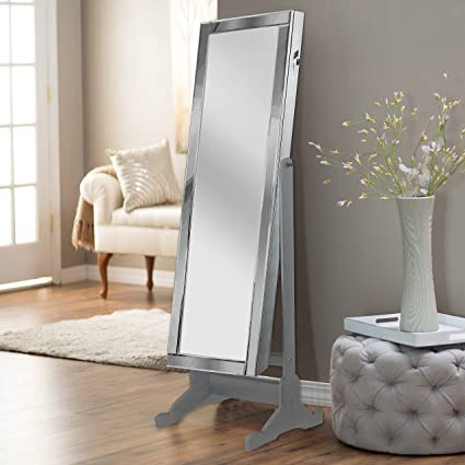 Amazoncom Iconic Home Glam Contemporary Classic Silver Mirror