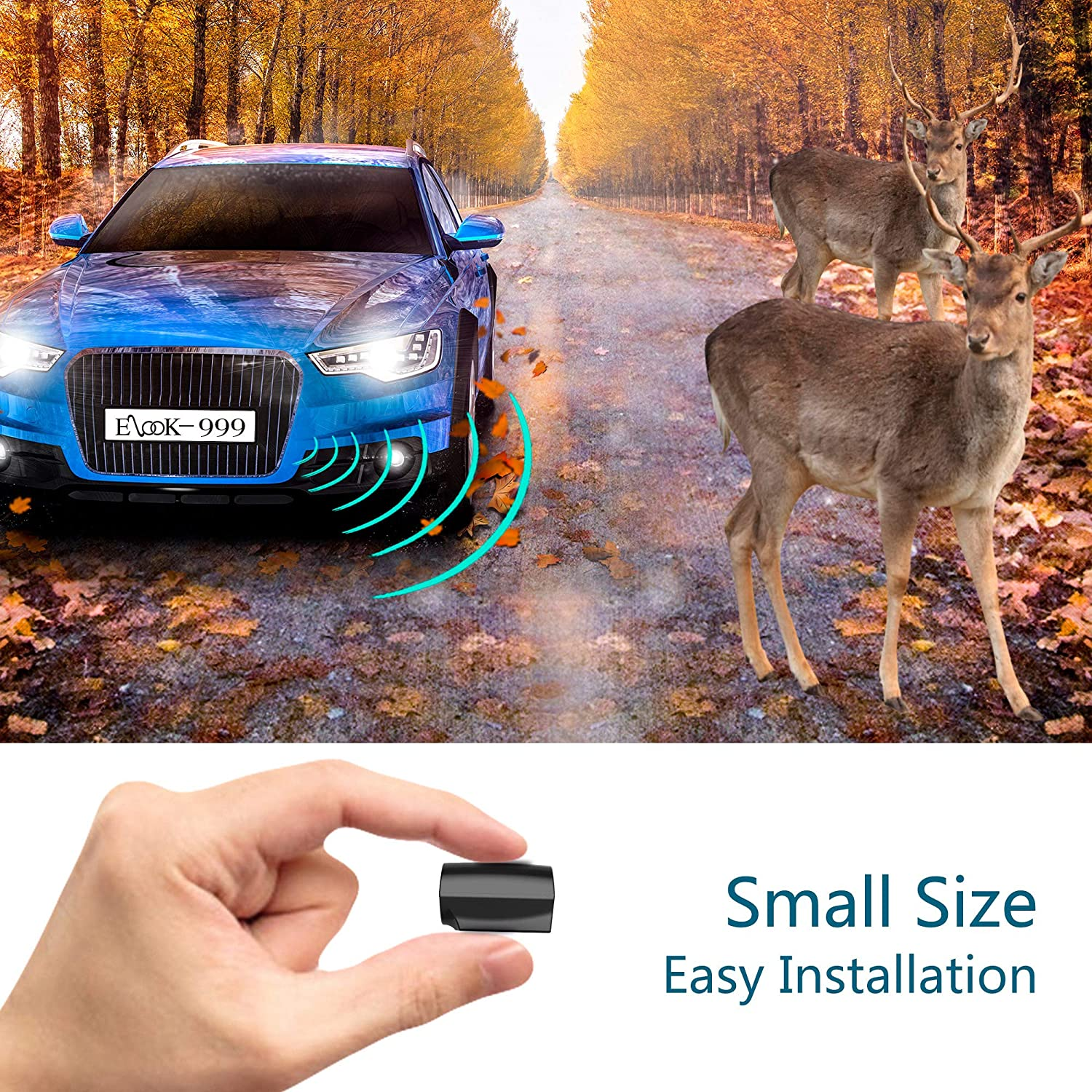 Mini Size Save Deer Whistle with Upgraded Acrylic Double-Sided Tape 2 Pack Elook Deer Warning Whistles Device for Car