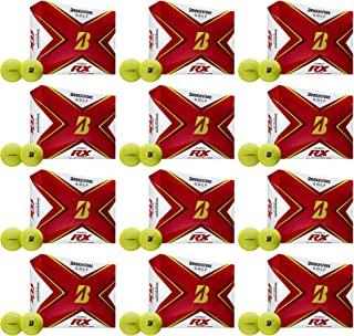 product image for Bridgestone Golf Tour B RX Reactive Urethane Distance Golf Balls, Yellow (12 Dozen)