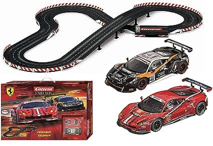 Amazon Com Carrera Usa Ferrari Trophy Slot Car Racing Toys Games