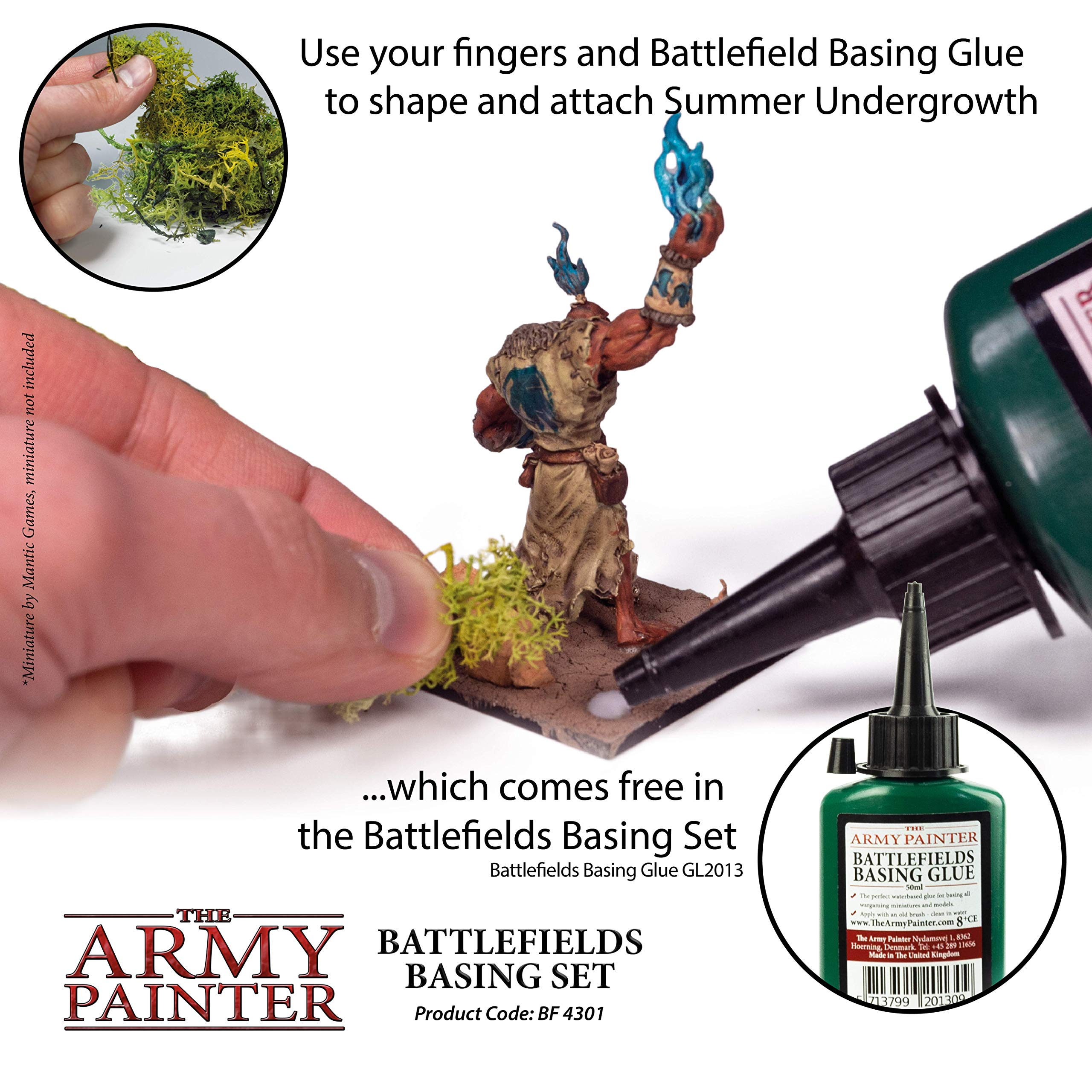 The Army Painter Battlefields Basing Set - Wargamers Terrain Model Kit for Miniature Bases and Dioramas with Landscape Rocks, Scenic Sand, Static Grass, Grass Tufts and Free Basing Glue by The Army Painter (Image #7)
