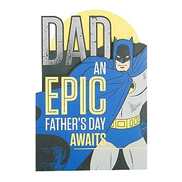 Amazon.com: Dad Batman día del padre Tarjeta de Hallmark ...