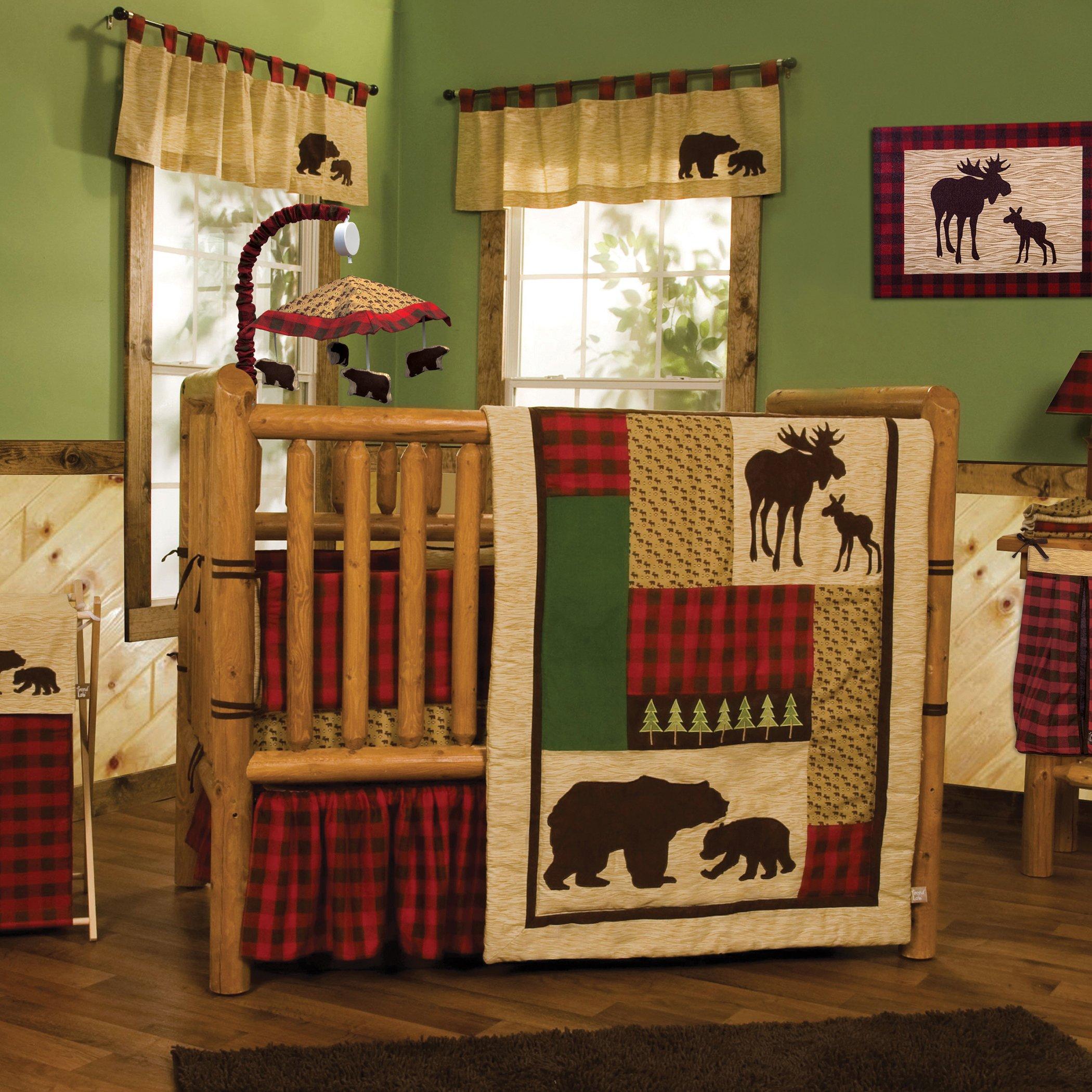 Trend Lab Trend Lab Northwoods 6 Piece Crib Bedding Set, Brown