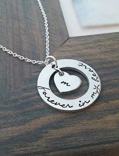 Sister Loss Gift Forever in my Heart Silver SISTER In Memory Necklace Sister In Heaven Gift Sister Loss Necklace Sister Keepsake Gift