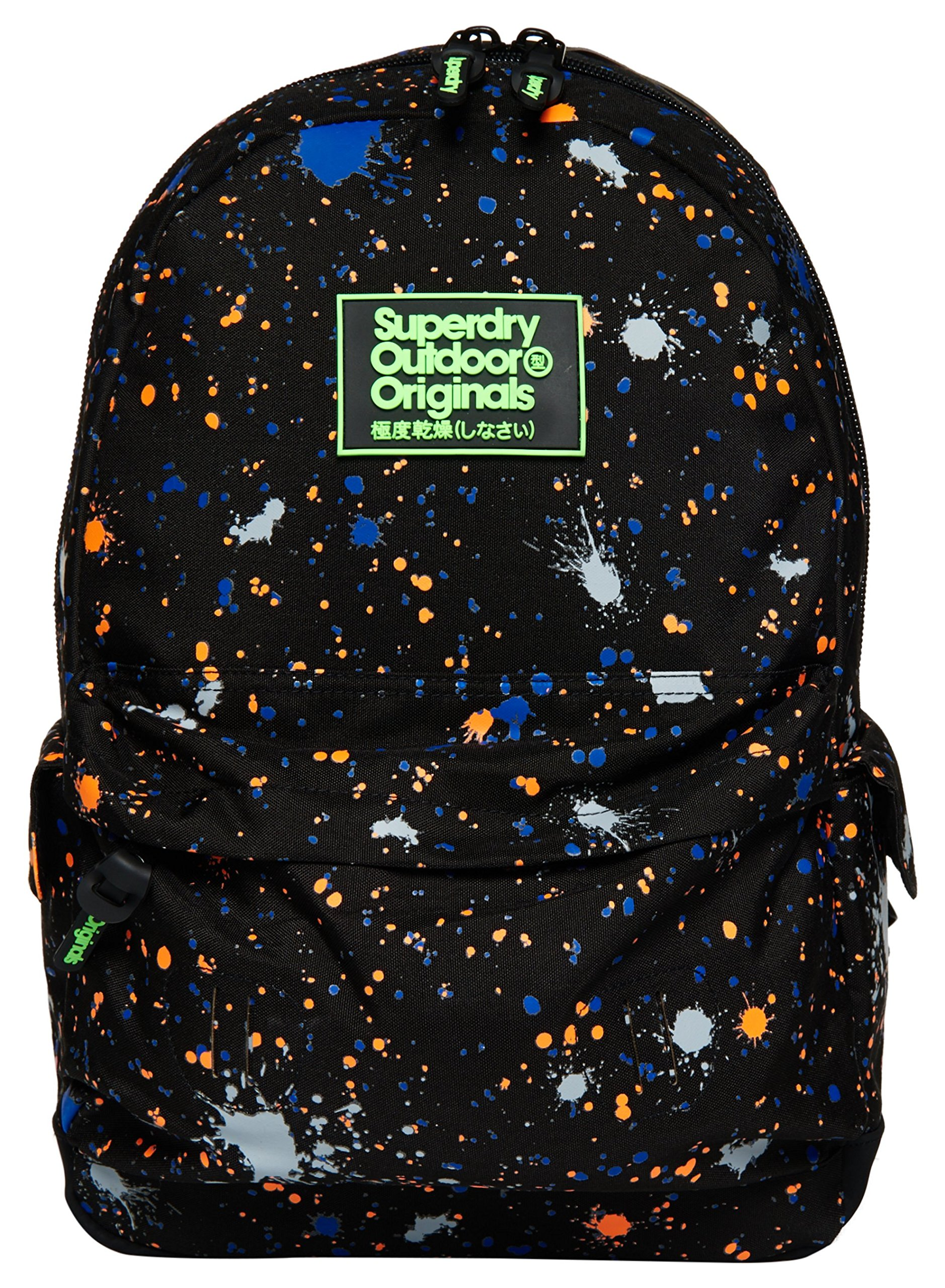 Superdry Men's Summer Splatter Montana Backpack, Black Grit, One Size