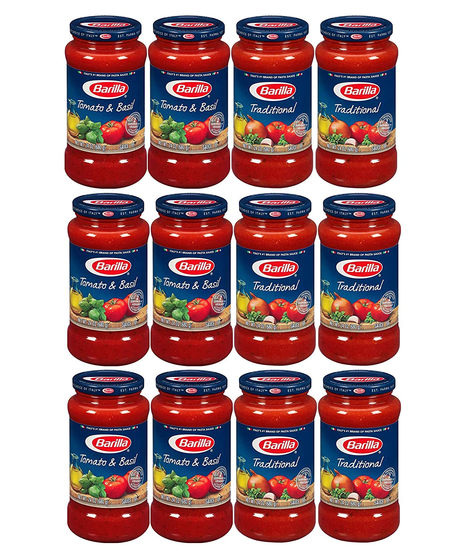 Barilla Pasta Sauce Variety Pack, 24 Ounce, 4 Jars (12-JARS)