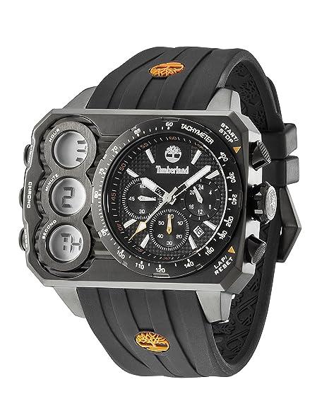 Timberland TBL.13673JSB/02S - Reloj analógico - digital de cuarzo para hombre, correa de silicona color negro: Amazon.es: Relojes