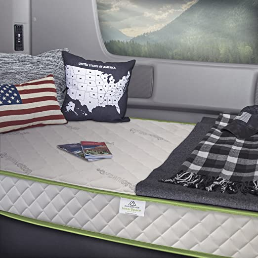 Mobile InnerSpace TM-3880 RV And Truck Maximizer 7 Grey//White Navy Blue Twin XL-38 x 80 Foam Mattress