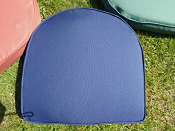 UK Gardens Navy Blue Garden Furniture Chair Cushion Seat Pad Round Back    Ideal For