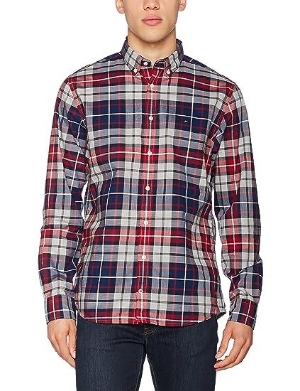 8d7d9d5e Tommy Hilfiger Men's Casual Shirt: Amazon.co.uk: Clothing