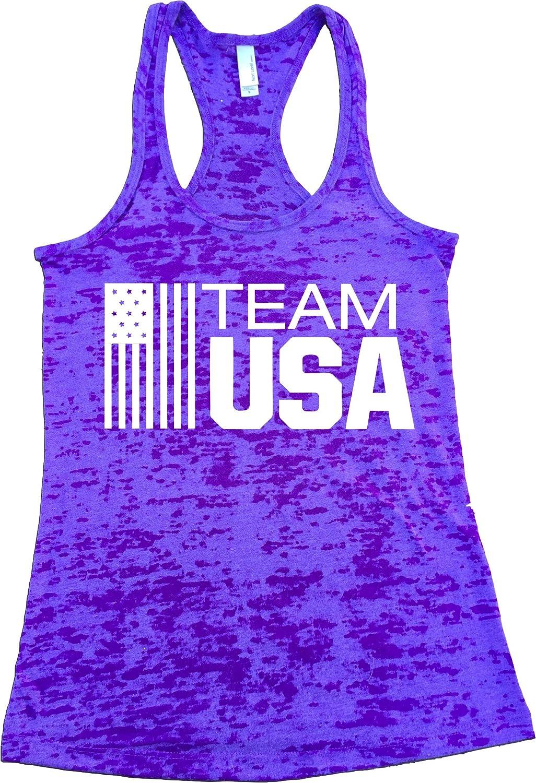 Team USA. Burnout Tank Top. Women Workout Tank. Olympics USA. Rio Olympics 2016