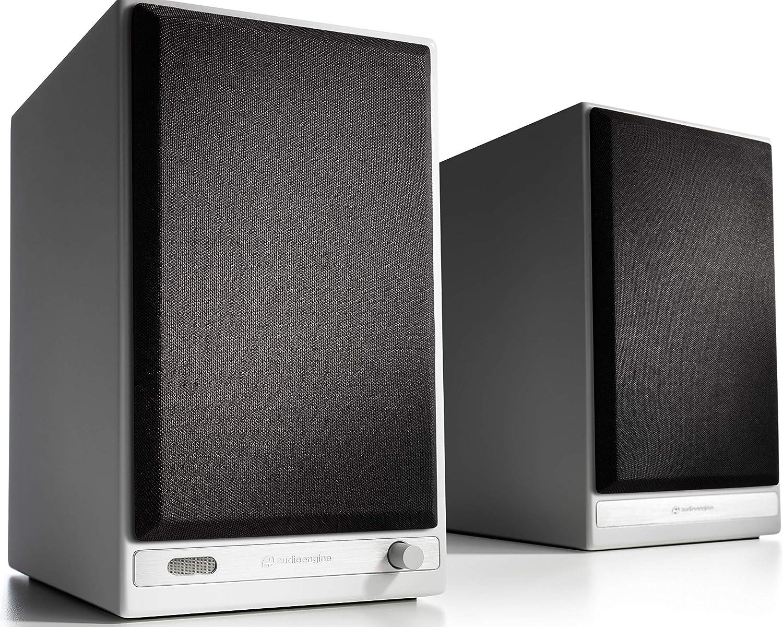 Audioengine HD6 150W Wireless Powered Bookshelf Speakers, Bluetooth aptX HD, USB 24-Bit DAC & Analog Amplifier (White)