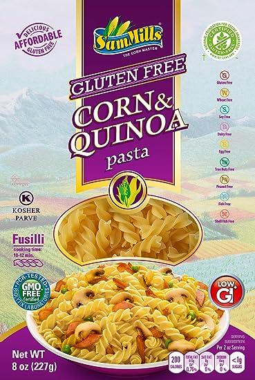 Sam molinos sin gluten Pasta D Oro Maíz & la quinoa Caja, 8 ...