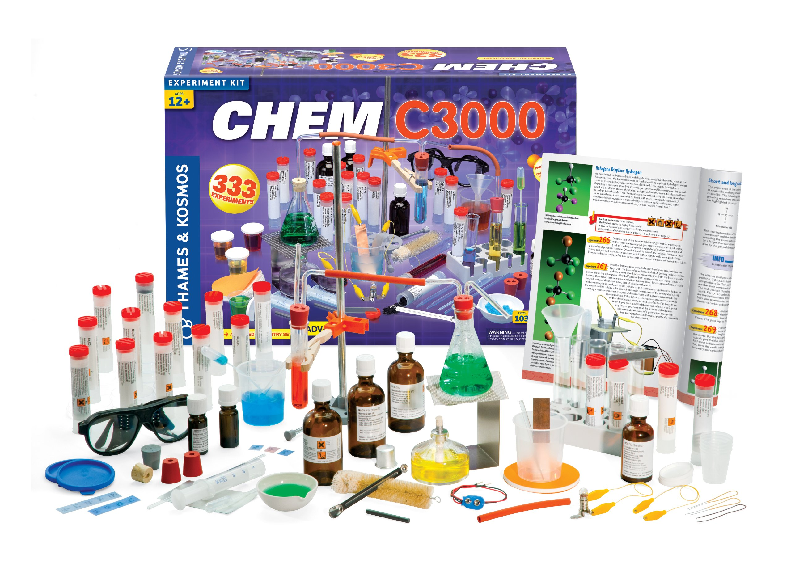 Thames & Kosmos Chem C3000 (V 2.0) Chemistry Set with 333 Experiments & 192 Page Lab Manual, Student Laboratory Quality Instruments & Chemicals by Thames & Kosmos (Image #2)