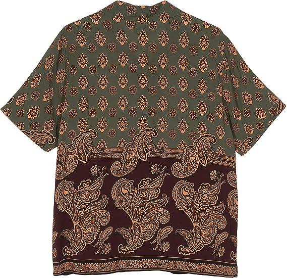 Stussy Block Paisley Shirt 1110069 Burgundy Camisa para hombre multicolor S: Amazon.es: Ropa y accesorios