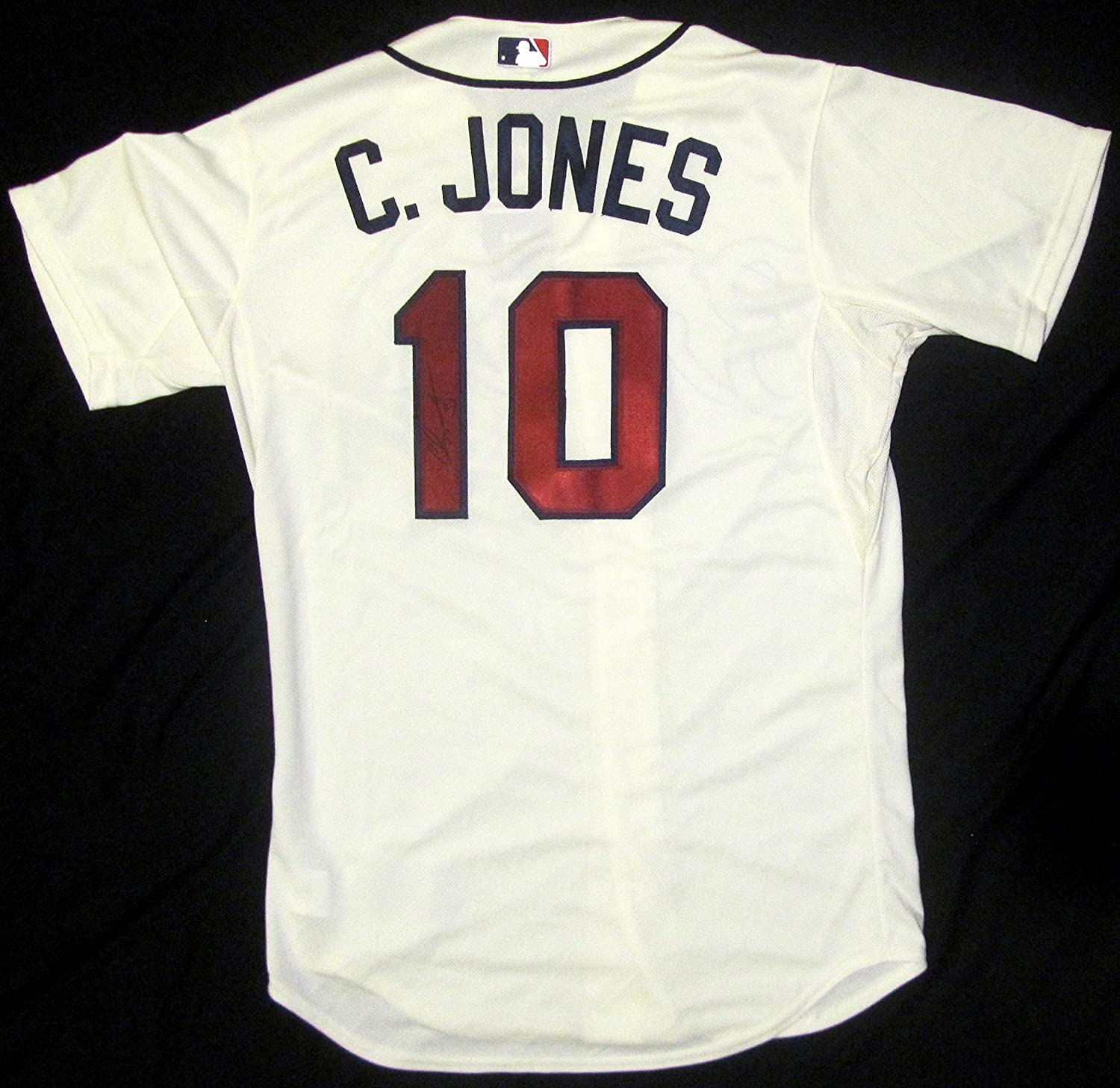brand new 4a405 021eb CHIPPER JONES AUTOGRAPHED Hand SIGNED Authentic Atlanta ...