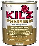 KILZ Premium High-Hide Stain Blocking Interior/Exterior Latex Primer/Sealer, White, 1-gallon