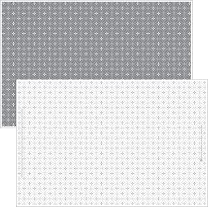 Gray and White Disposable Placemats for Baby, Toddlers, Children and Adults - Sticky Toppers for Tables - Restaurant, Travel, Airplane Tray Covers, Schools - 40 Pack