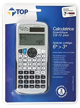 Auchan CS-12 PLUS TOP Office Scientific Calculatrice Scientifique