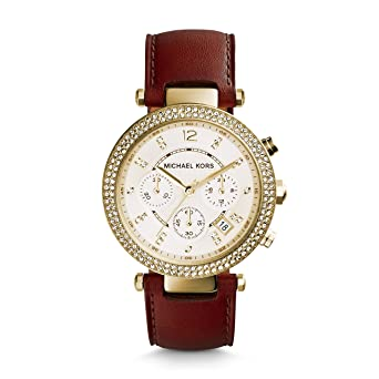 4c71965fb Image Unavailable. Image not available for. Color: Michael Kors Women's  Parker Gold-Tone Watch MK2249