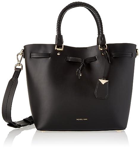 106580b796 Michael Kors Blakely Md Bucket Bag - Borse a spalla Donna, Nero (Black)