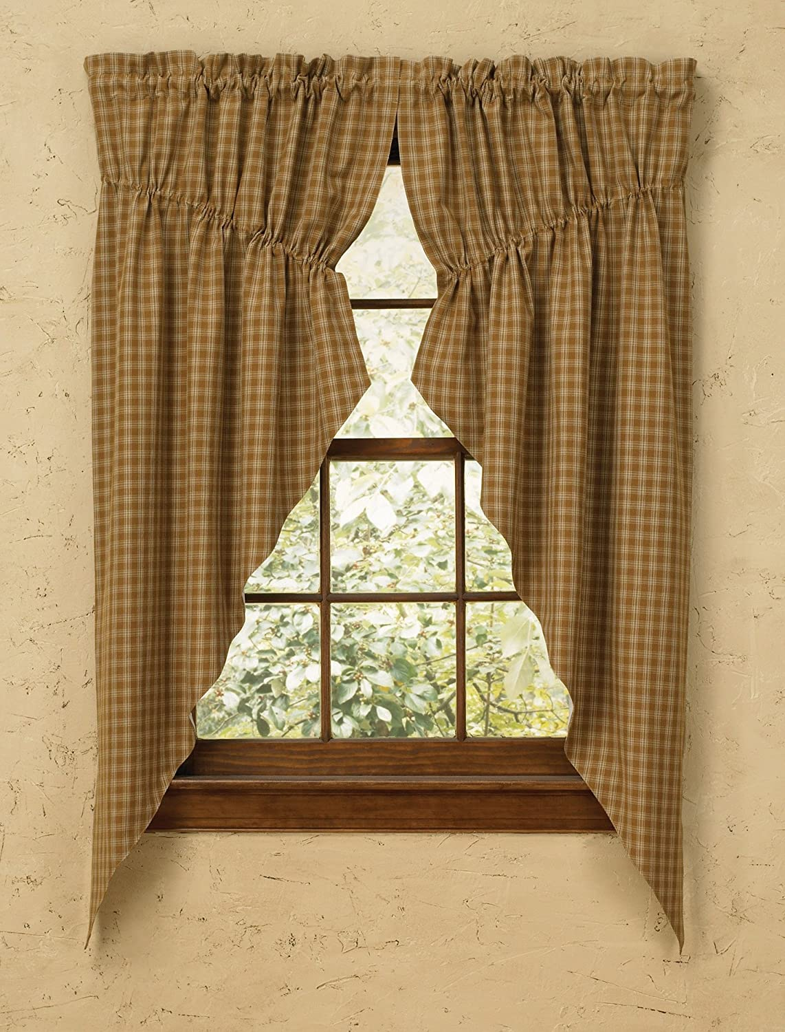 Gathered curtains - Amazon Com Park Designs Sturbridge Lined Gathered Swag 72 By 63 Mustard Home Kitchen