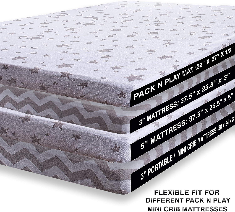 Juegos de cama para cuna gris gris Talla:Pack N Play: Amazon.es: Hogar