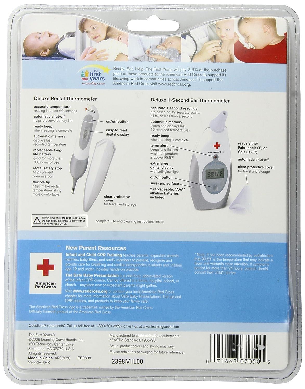 The First Years American Red Cross Termómetro para bebés y niños pequeños: Amazon.es: Bebé