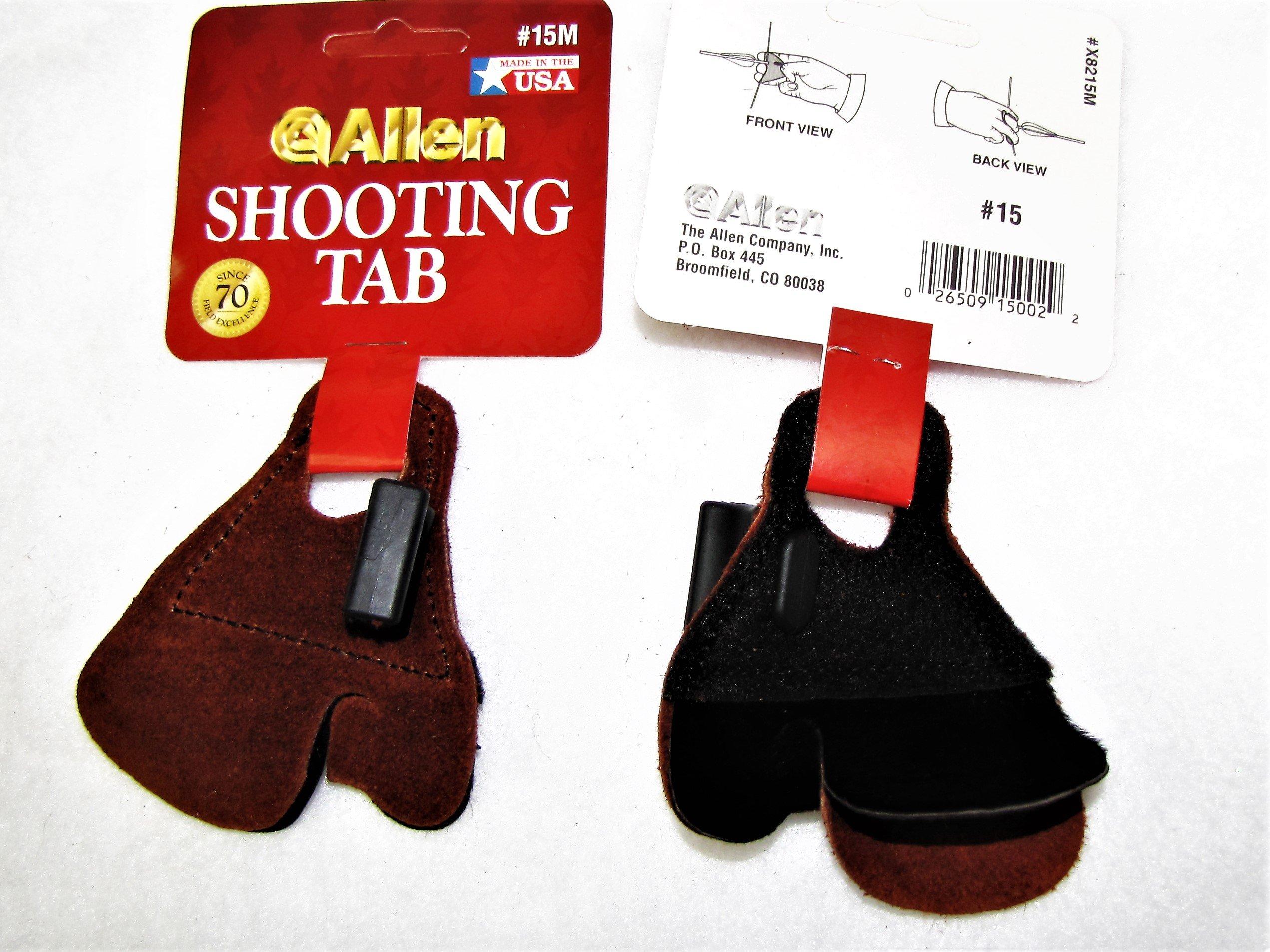 SHOOTING TABS, ALLEN CALF HAIR NO PINCH, R OR L HAND, PKG OF 6, AM 500