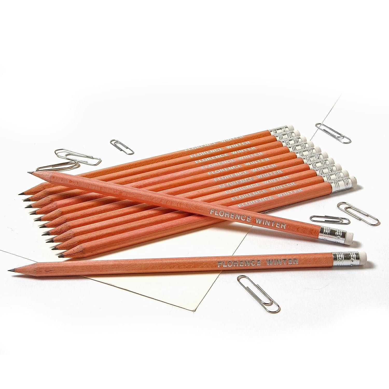 stampa color oro Red 12 matite HB in grafite personalizzabili