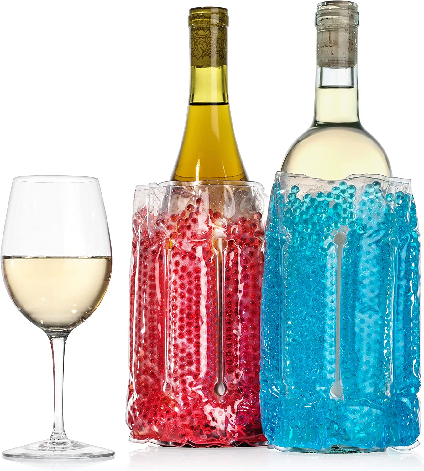2 pack Wine Chiller Sleeves - Perfect for Parties, Cookouts, Picnics, Boating, Tailgating and Food & Beverage Transport, Typhon East