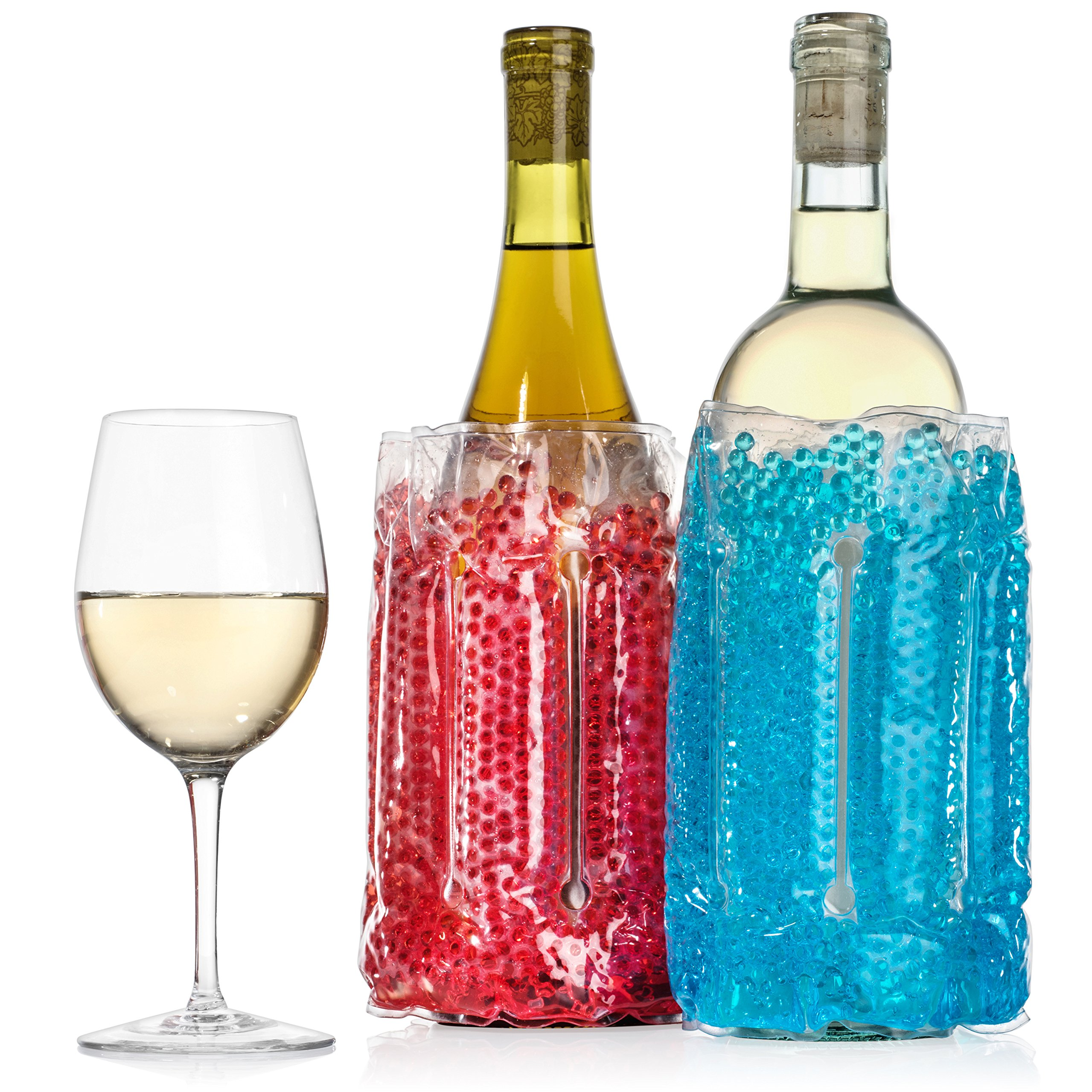 2 pack Wine and Beverage Chiller - Perfect for Parties, Cookouts, Picnics, Boating, Tailgating and many more activities - Typhon East