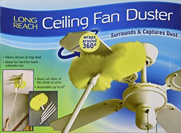 ceiling fan duster with extension pole. ceiling fan duster (23930) with extension pole s