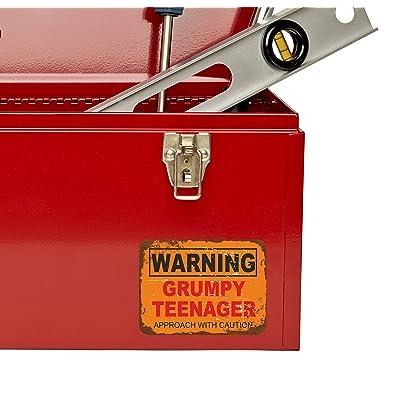 2 x Grumpy Old Man Warning Sign Vinyl Sticker Car Travel Luggage #9742