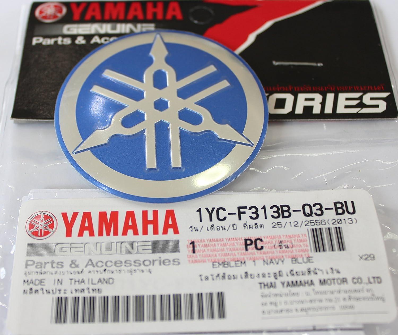 ARGENT sur/élev/é bomb/é Alliage M/étallique Construction Autoadh/ésif Moto Jet Ski 100/% GENUINE 55mm Diam/ètre YAMAHA TUNING FOURCHE Autocollant Embl/ème Logo ROUGE Motoneige ATV