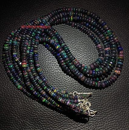Ethiopian Opal Necklace Ethiopian opal rondelle Necklace Welo Opal Necklace Ethiopian opal Smooth Necklace Opal Smooth Rondelle Necklace