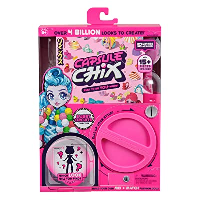 Capsule Chix Sweet Circuits Collection, 4.5 inch Doll with Capsule Machine Unboxing and Mix and Match Fashions and Accessories: Toys & Games
