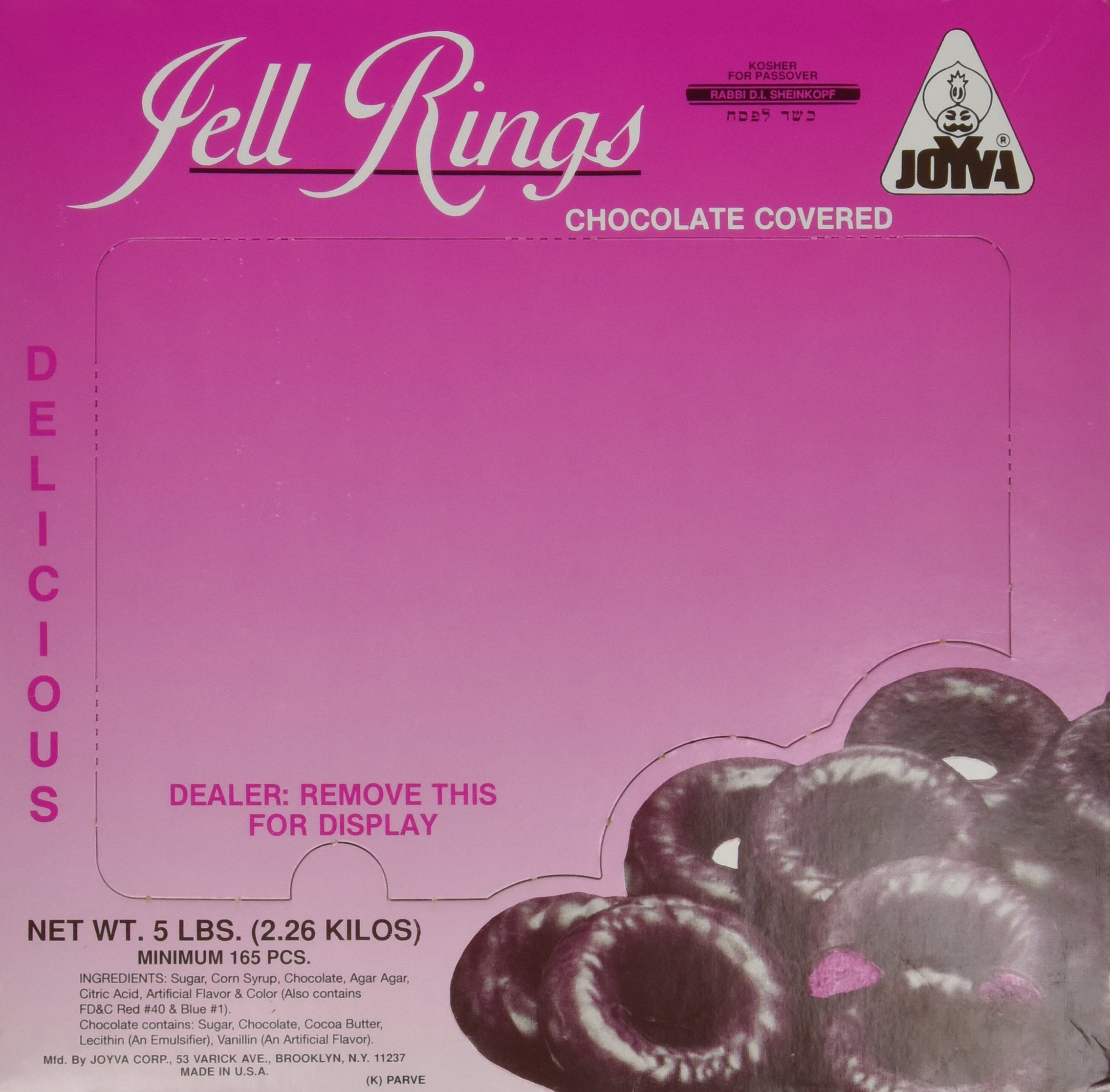 Chocolate Covered Jelly Rings by Joyva 5lbs by Joyva