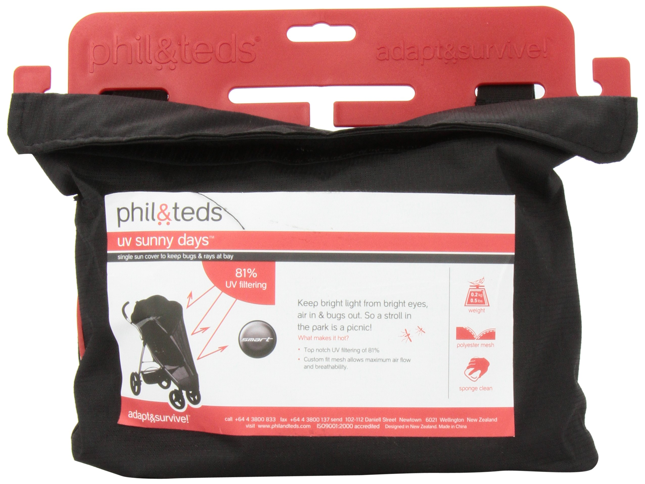phil&teds UV Sunny Days Mesh Cover for Smart Single Stroller by phil&teds (Image #1)