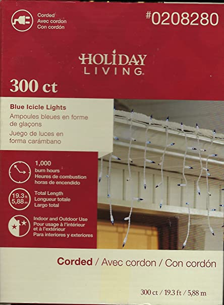 6265d2ce375 Holiday Living 300-Count Constant Blue Mini Incandescent Plug-In Christmas  Icicle Lights