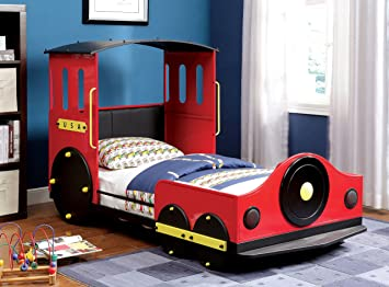 Amazon Com Furniture Of America Alleny Train Bed Twin Kitchen
