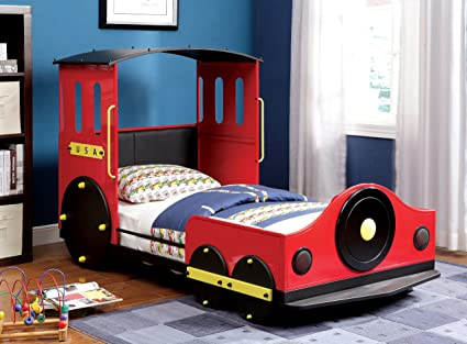 Amazon.com: Furniture of America Alleny Train Bed, Twin: Kitchen