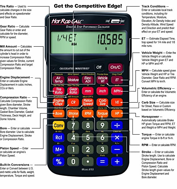 Amazon Mr Gasket Hot Rod Calc Street And Strip Performance