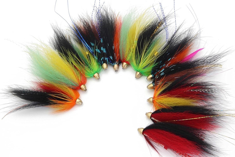 Tigofly 8 couleurs 8 x 20 cm pour la fabrication de mouches en relief arc-en-ciel Sabiki Rig Making crevettes Flash Ailes arri/ère Scud Nymphes